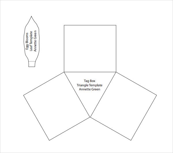 traingle leaf template