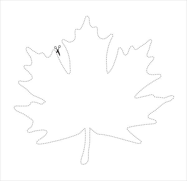 sample leaf template