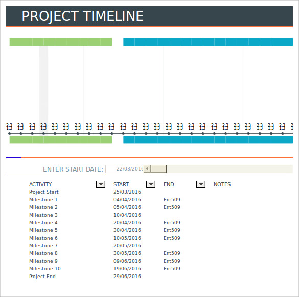 Sample Project Timeline Template Yourwaytk - Sample project timeline template