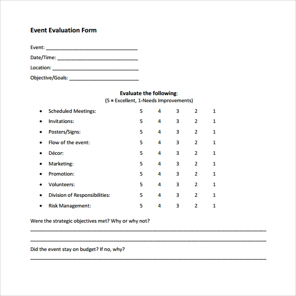 Event satisfaction survey questions for Event survey template word