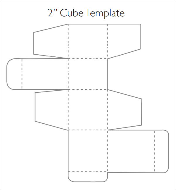 cube box template printable