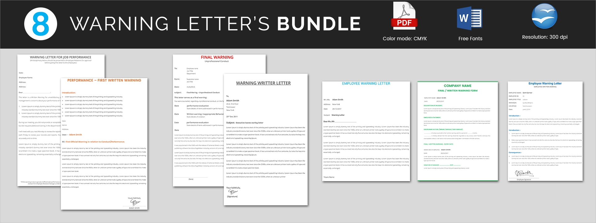 warning letters bundle