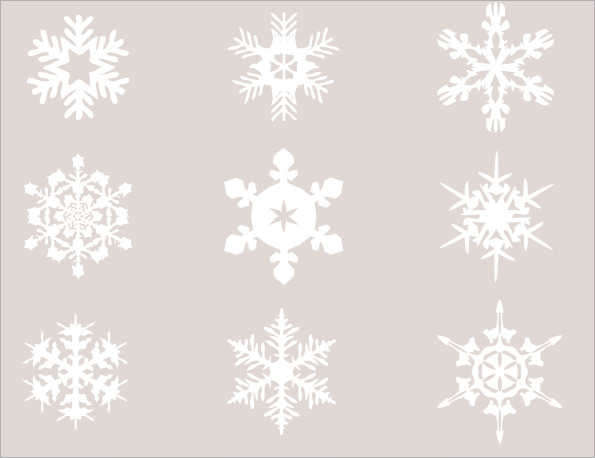 snowflake template printable