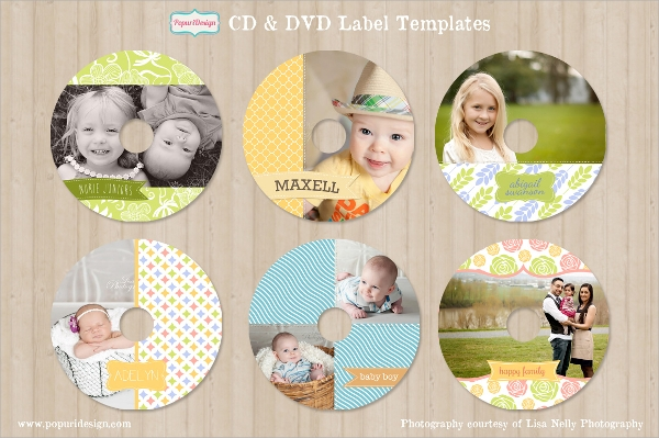 colorful cd dvd label template