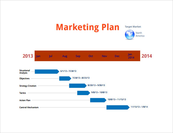 Marketing Timeline   Free Download For Pdf  Doc  Excel