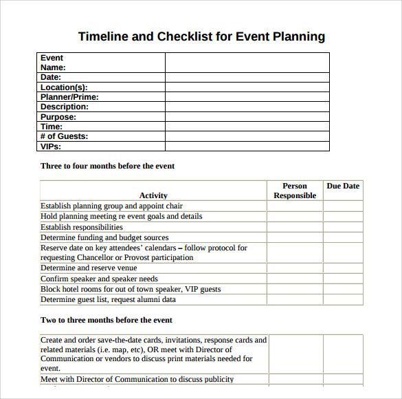 timeline checklist template - Besik.eighty3.co