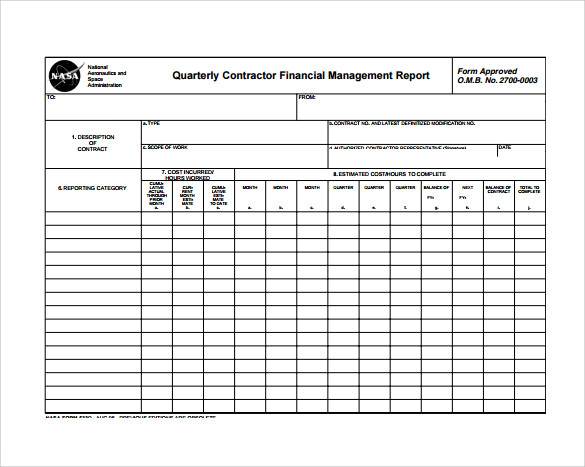 Monthly Report 10 Download Documents in PDF – Monthly Reports Templates