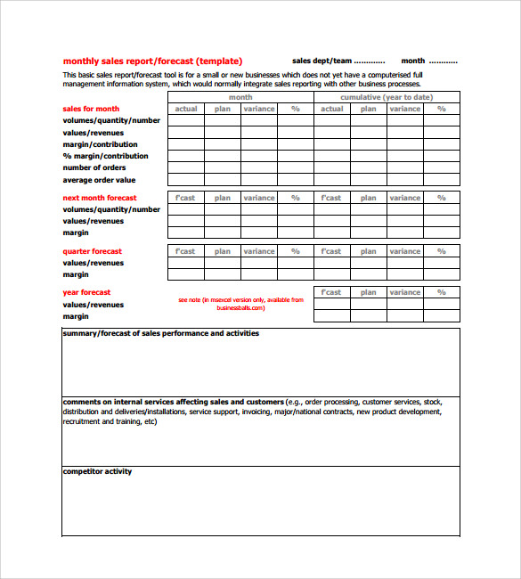 18 monthly report templates � pdf word adobe