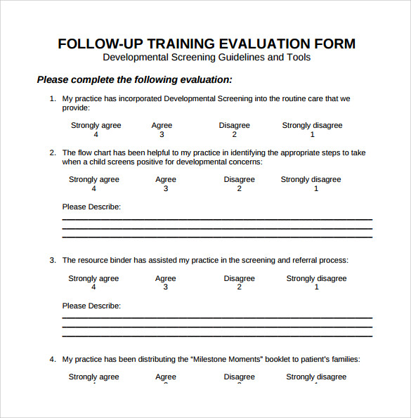 Training Evaluation Forms Templates Training Evaluation Form