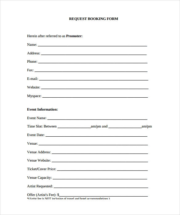 sample artist performance contract template free download. wedding ...