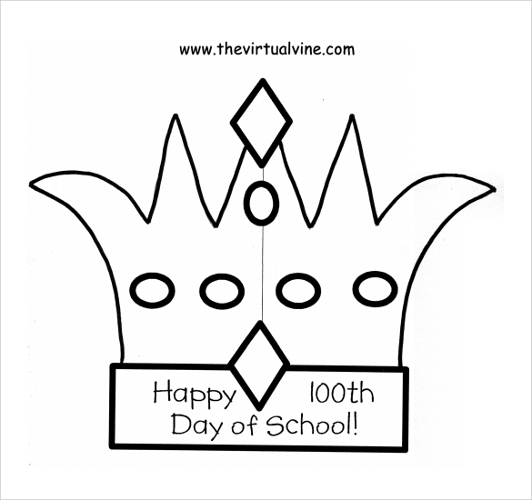 printable crown template
