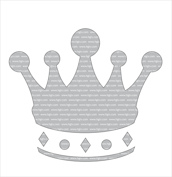 crown pumpkin template