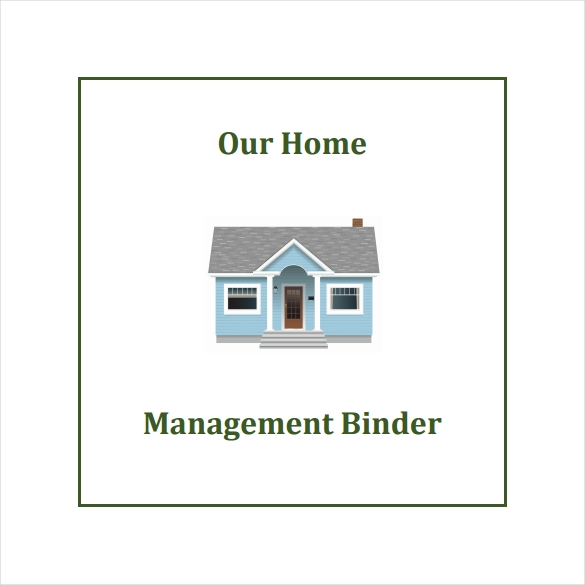 home management binder cover template