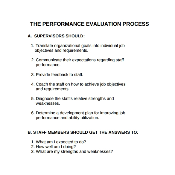 Performance-Evaluation-Process Template For Employee Feedback on crew members, can grow business, keys effective, that are shy, form template excel,
