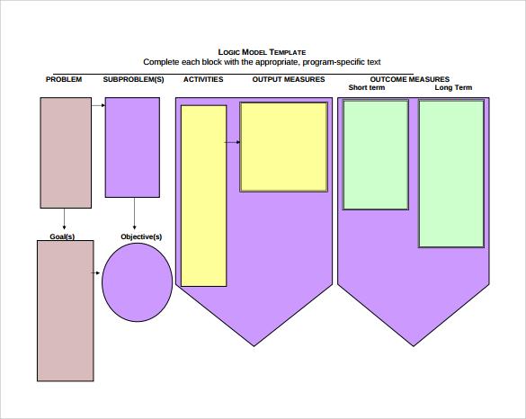Printables Logic Model Worksheet sample logic model 11 documents in pdf word blank template