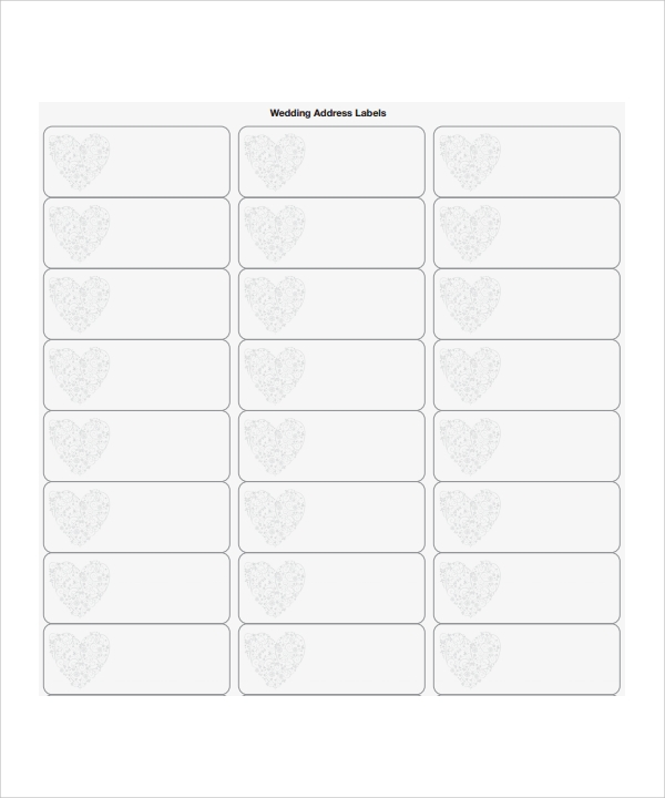 8 sample address label templates sample templates for Wedding mailing labels templates