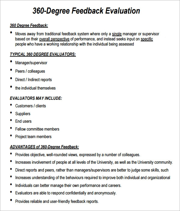 360 evaluation 6 free download for pdf sample templates for 360 degree performance review template