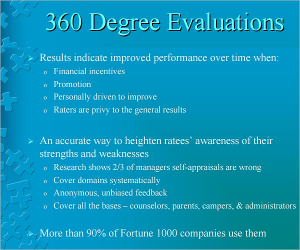 360 evaluation questions