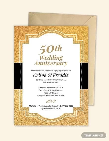 50th wedding anniversary invitation1