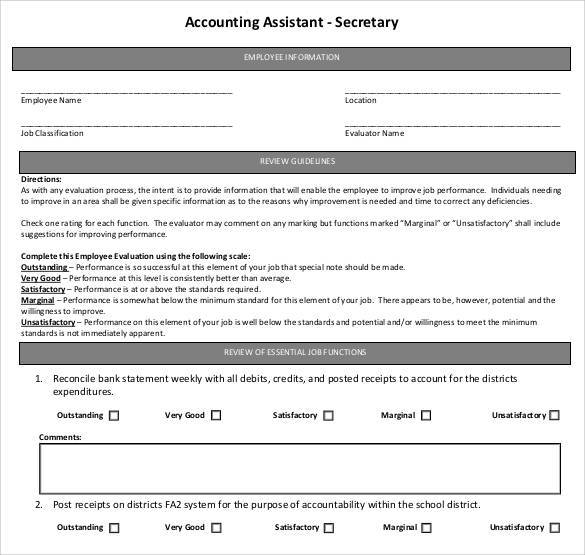 accounting assistant secretary