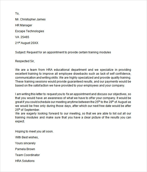 Sample Letter Format For Meeting Request. Teacher Appointment Letter Templates 7 Sles In Word Pdf Business Letters  Employee Template Job Request For Meeting 4k Wallpapers