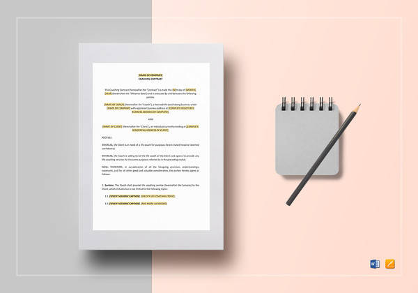 21 Sample Business Contract Templates Word Docs
