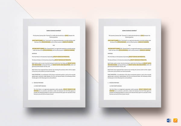 business contract template3