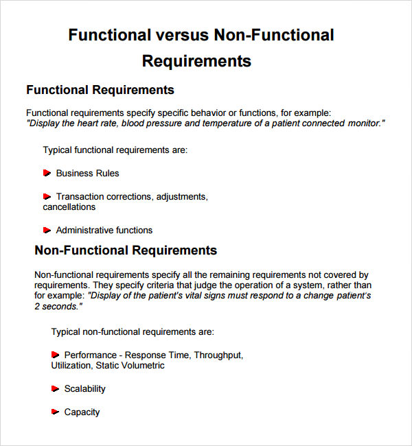 7 business requirements document templates pdf word for Functional design document template