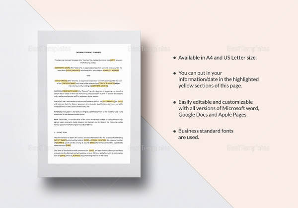 Catering Contract Template - 13+ Download Free Documents in Word, PDF