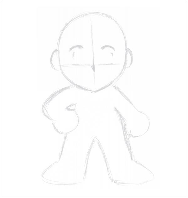 chibi template boy pdf