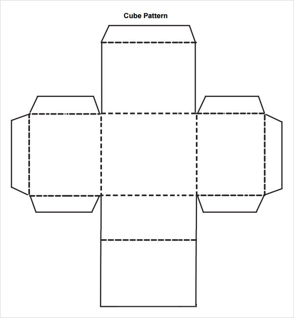 Cube template 8 free pdf doc download for 3 dimensional cube template