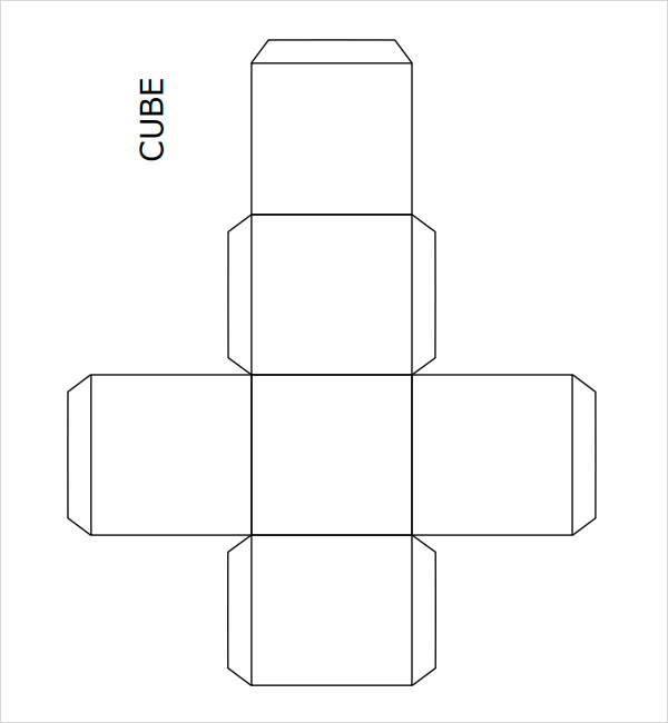 3 dimensional cube template - 9 sample cube templates sample templates