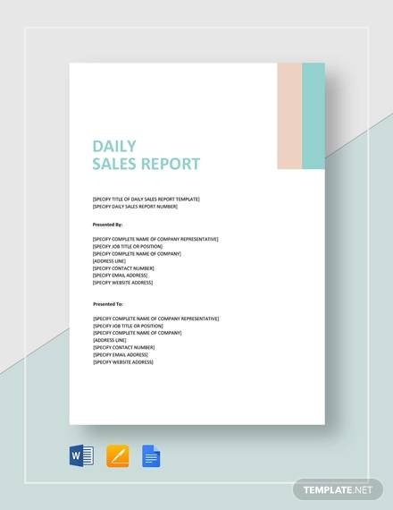 Free 16 Sales Report Templates In Google Docs Ms Word Apple Pages Pdf