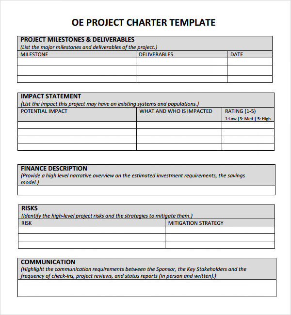 one page project charter template - blog archives helperfreelance