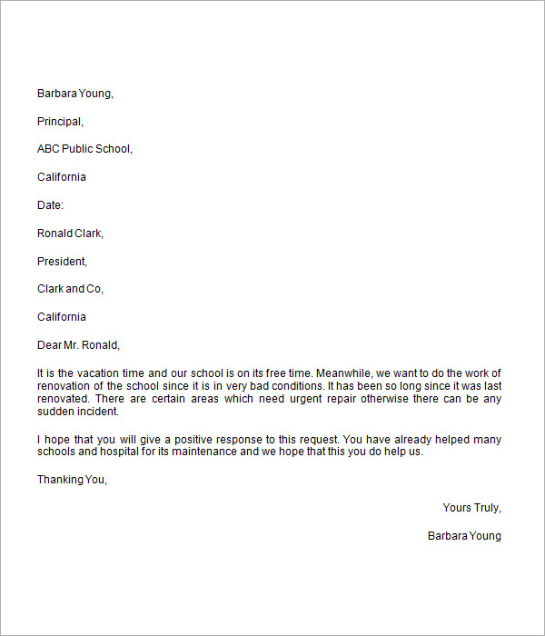 Donation Request Letter - 8+ Free Download for Word