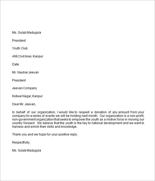 sample donation request letter to a company donation request letter 8 free for word 24592 | Donation Request Letter
