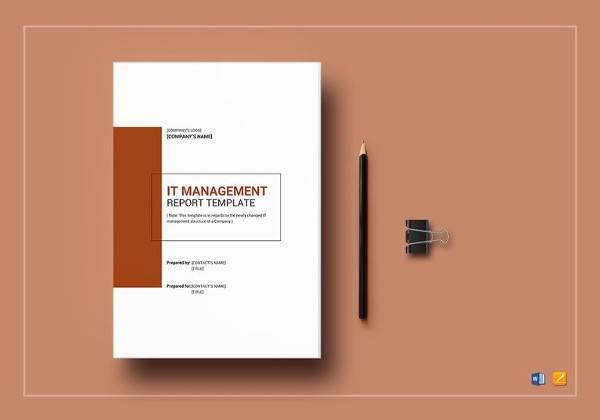 editable it management report template