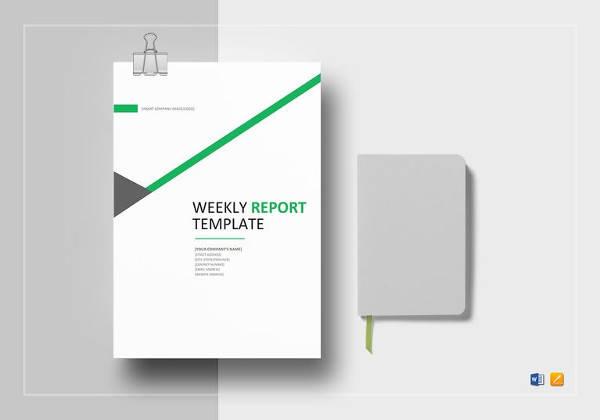 editable weekly status report template
