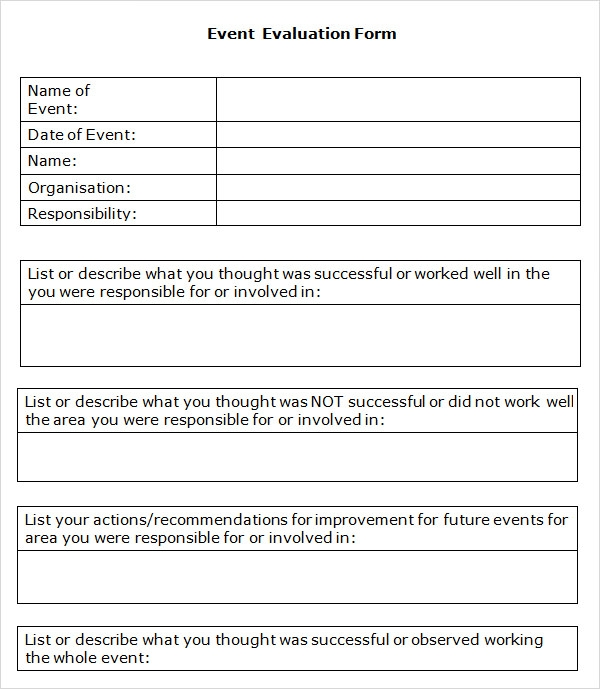 10 event evaluation samples sample templates for Event survey template word
