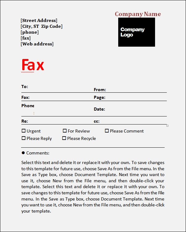 Fax Cover Sheet Template 5 Free Download in Word PDF – Fax Cover Sheets Template