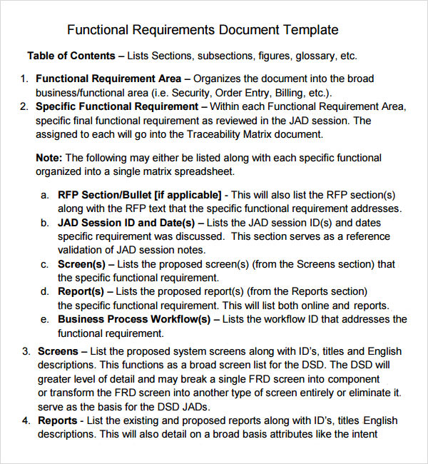 sample business requirements template .
