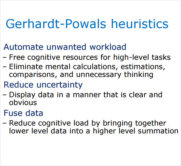 gerhardt powals heuristics template