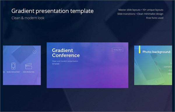 gradient presentation template indesign