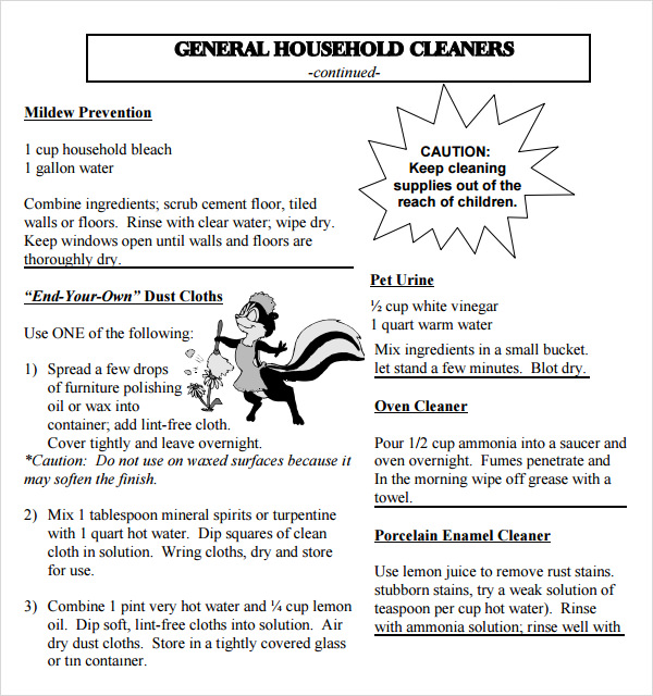House Cleaning Tips PDF