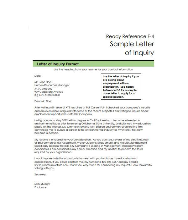 inquiry letter in pdf