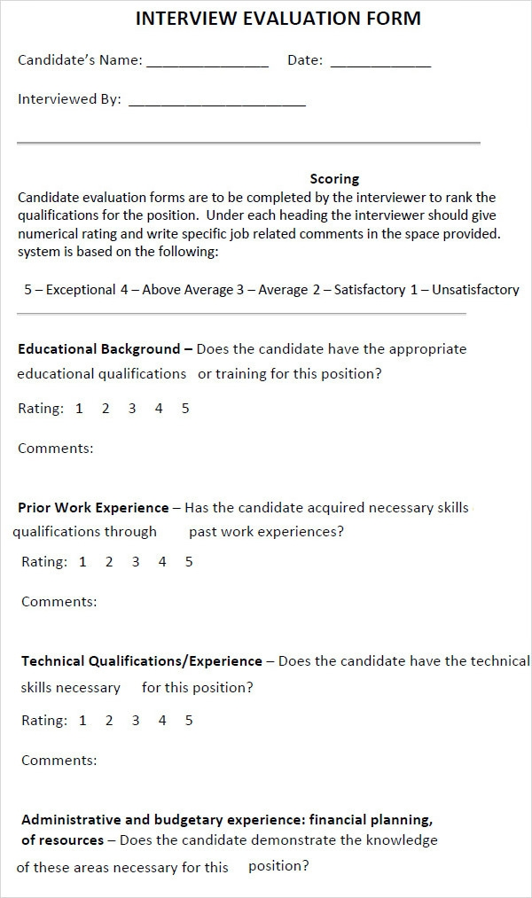 interview evaluation template download1