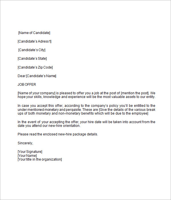 Job Offer Letter Template 3JRL7WLT