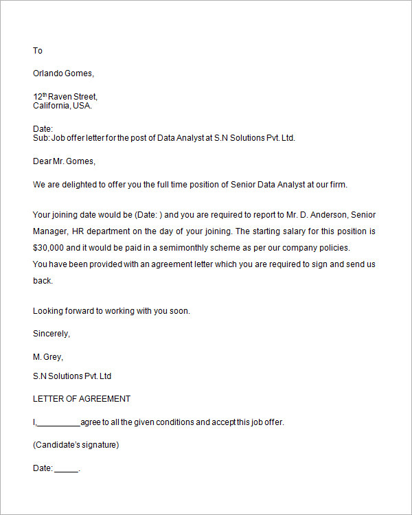 job offer letter template word habbowildtk