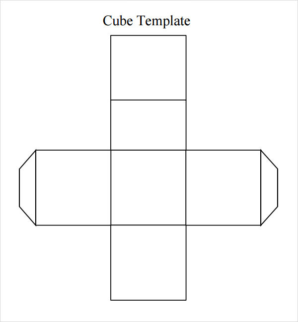 photo regarding Printable Cube named Totally free 8+ Pattern Dice Templates inside of Term PDF