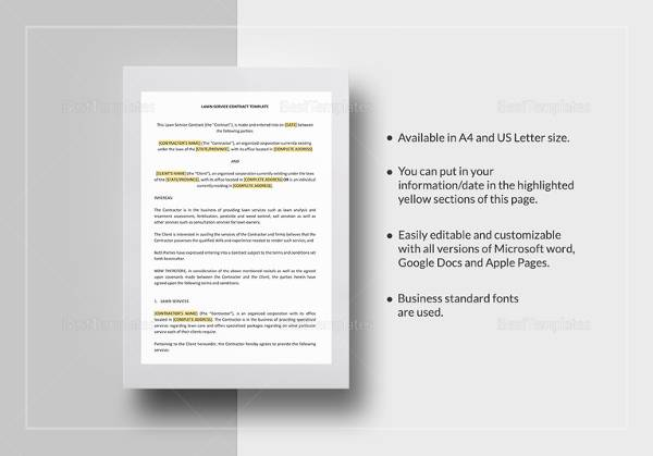 lawn service contract template1